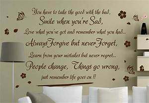 Life Goes On Inspirational Vinyl Wall Decal