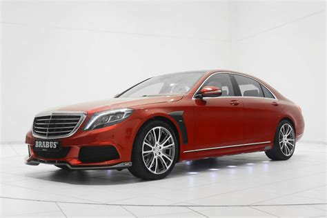 Brabus Shows Off Red Mercedes-benz S-class
