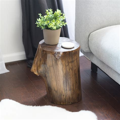 how to make a tree stump end table make a tree stump side table