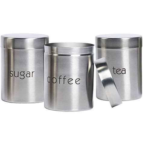 Canister Sets Stainless Steel by Basic Essentials 174 3 Pc Stainless Steel Canister Set