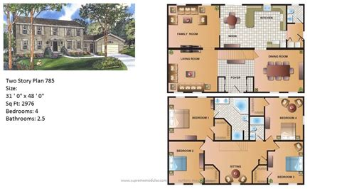 Two Story Home Plans by Modular Homes By Supreme Modular Featured Modular Home Two