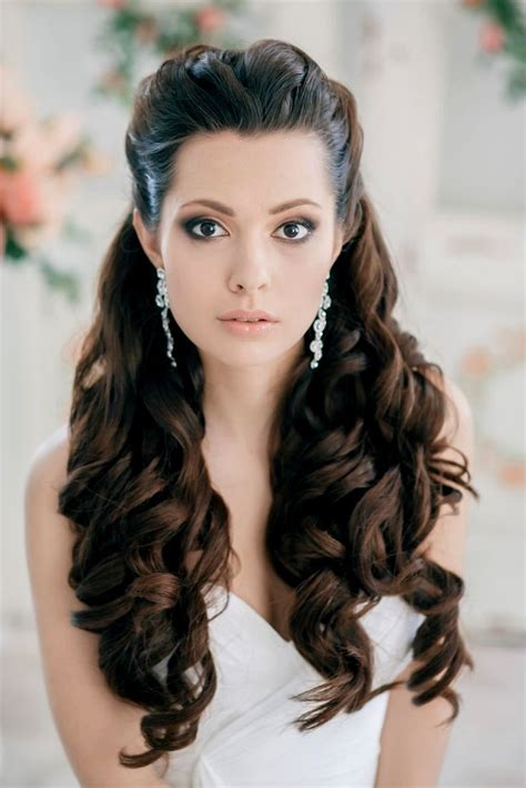 Bridal Latest Curly Hairstyle Images Wedding Long