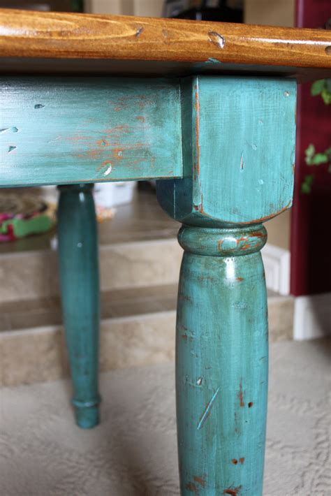 reinvented treasures  rustic turquoise table  desk