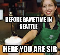 Anti Seahawks Memes - before gametime in seattle here you are sir seahawk fans quickmeme