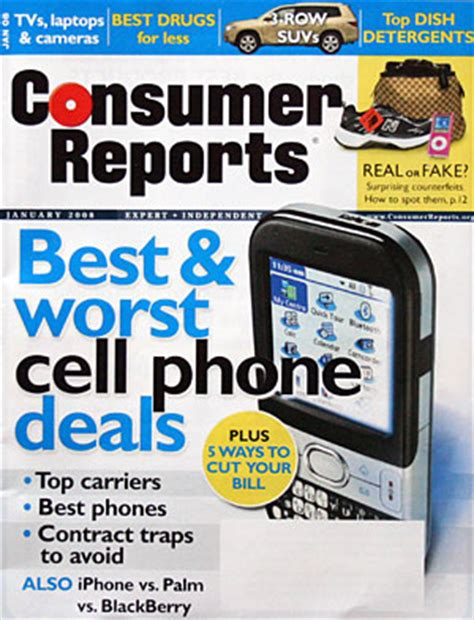 consumer reports cellphone service survey 2008 published