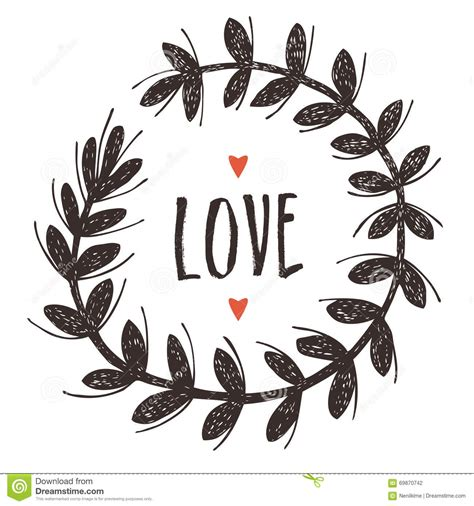 Vignette With Love Stock Vector Image Of Decorative