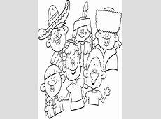 Dibujos para colorear variedad de culturas Dibujos para