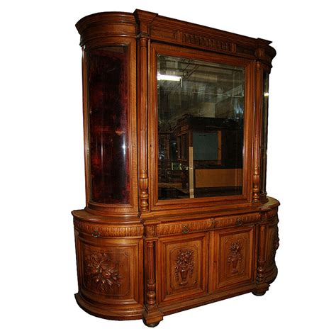 curio hutch european antique oak huntboard curio cabinet 4581 ebay