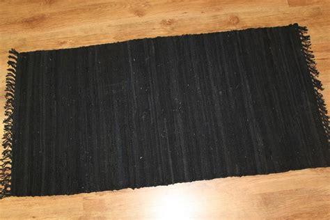 Rug Wholesalers Uk by Rag Rugs Cotton Black Rag Rugs