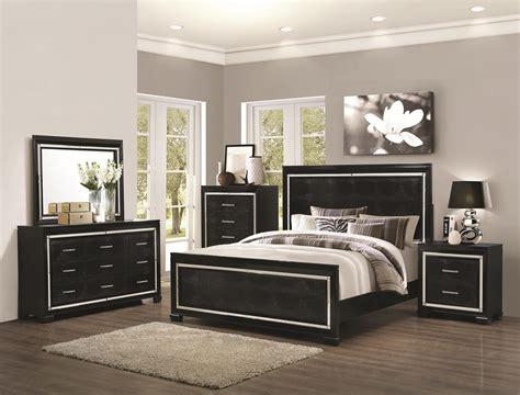 black bedroom sets coaster furniture 4 pc zimmer black crocodile pattern