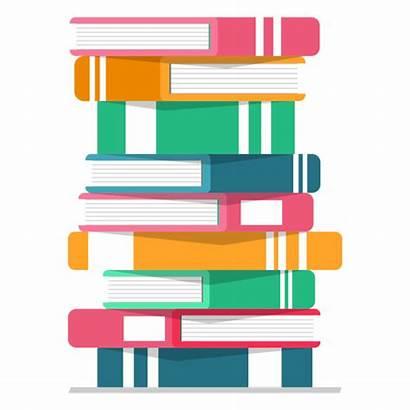 Vector Books Pile Transparent Svg Icon Literature