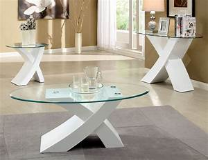 Coffee tables ideas awesome white coffee and end table for High end glass coffee tables