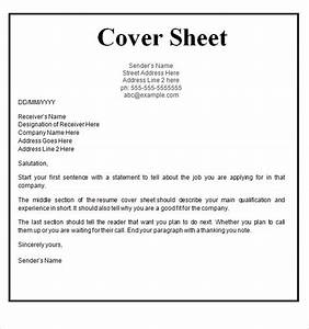 17 cover page template free download images fax cover With cover sheets for resumes templates free