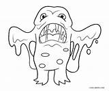Monster Coloring Pages Printable Toddlers sketch template