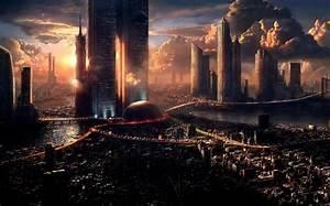 Artwork, Concept, Art, Fantasy, Art, City, Futuristic