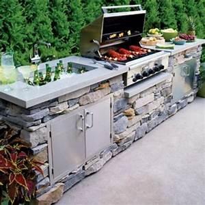 La cuisine avec ilot central idees de decoration et design for Idee deco cuisine avec conforama meuble jardin