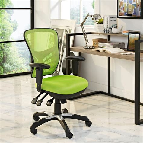 modway articulate mesh office chair in green eei 757 grn