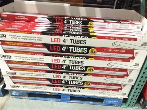 led tube lights costco felt electric 4 ft led linear tubes 2 pack costcochaser