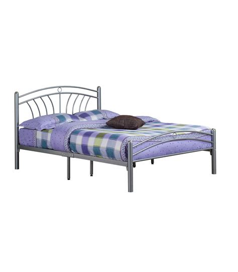 silver bed frame bowen solid metal bed frame in silver 5212