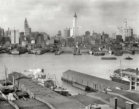 New York Circa 1912 Manhattan Skyline From Brooklyn