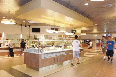 students return  remodeled dining hall linfield news
