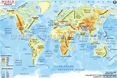 World Physical Map | Mountain ranges, deserts, etc. Click ...