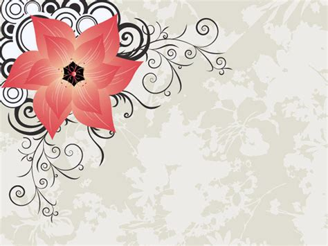 stylish flower powerpoint templates  powerpoint