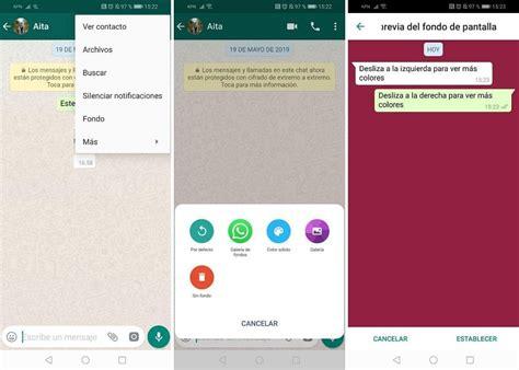 whatsapp como cambiar el fondo de pantalla en los chats