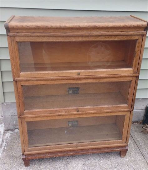 Barrister Bookcase by Antique Viking Barrister Bookcase 3 Sections Top No 930