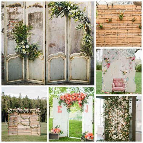 Diy Rustic Backdrop by Wedding Backdrops Details