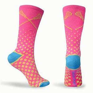 Malibu Neon Series Lacrosse Socks Pink Yellow Blue