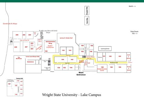 Wright State University Main Campus Map