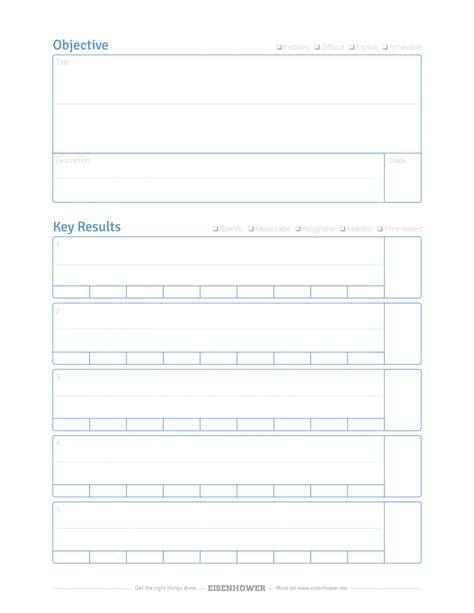 okr template free okr template pdf objective key result quality check