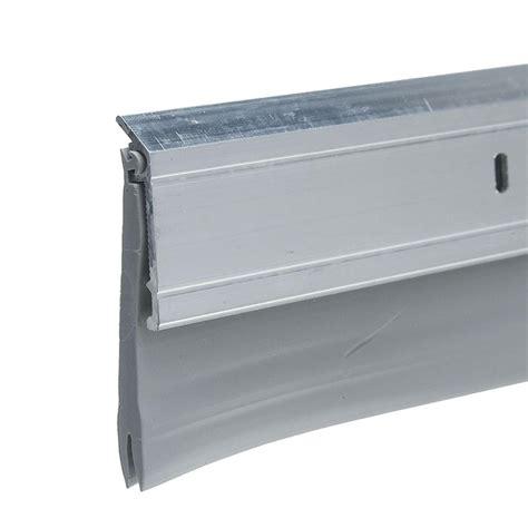 king door sweep king e o 2 in x 36 in silver heavy duty aluminum