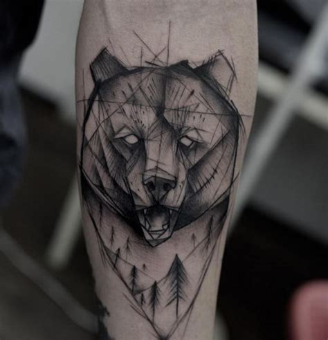 geometric bear tattoo designs amazing tattoo ideas