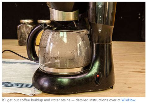 Next time you consider cleaning your coffee maker, above is the process on how to clean a coffee maker with vinegar. Run vinegar and water through your coffee maker.   Cleaning hacks, Household cleaning tips ...