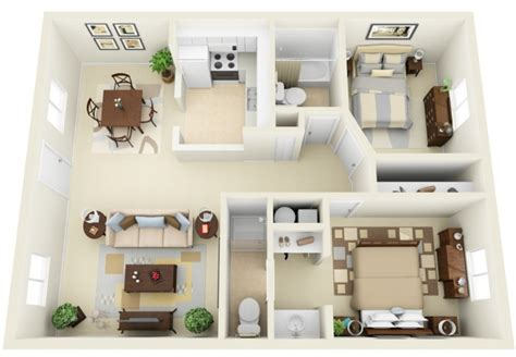 appartement 2 chambres idee plan3d appartement 2chambres 20