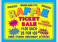 Make a School Raffle Ticket Sale Poster School