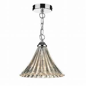 Ardeche fluted glass single ceiling pendant light