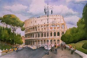 Roman Holiday- Colosseum Painting by Leah Wiedemer