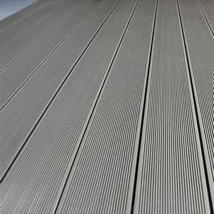 Lame Composite Pour Terrasse Leroy Merlin : planche primo en composite gris l 300 x l 14 5 cm x ep 21 ~ Zukunftsfamilie.com Idées de Décoration