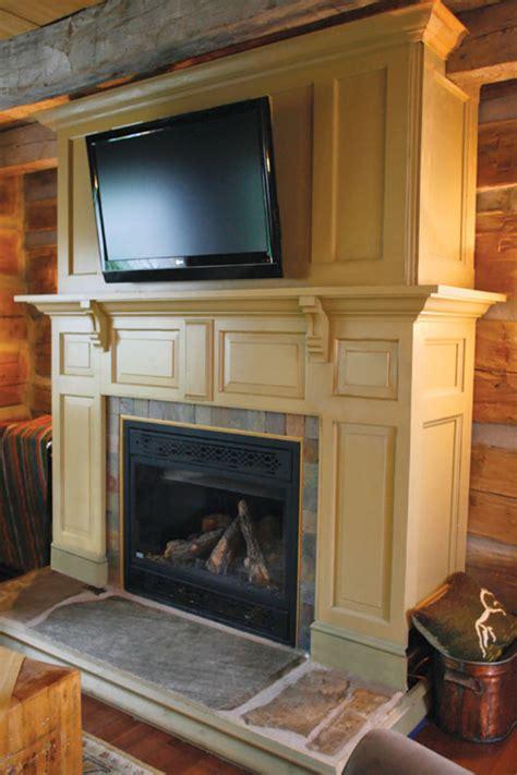 fireplace surround  salvaged doors