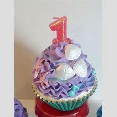 Sea Themed First Birthday Fake Cupcake Home Decor Photo