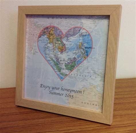 personalised map gift world travels