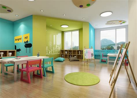 Nanjing 61 Space Preschool And Kindergarten Design On Behance  Design For Kids  Interiors In