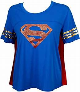 Amazon Com Supergirl Symbol With Cape Women 39 S T Shirt