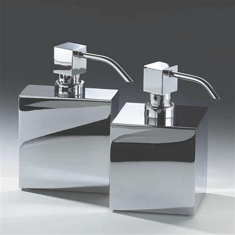 harmony 414 soap dispenser in chrome modern bathroom