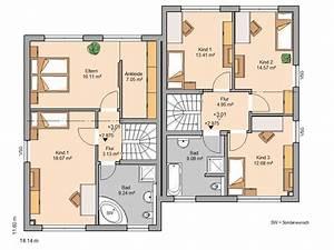 Doppelhaus Grundriss Beispiele : kern haus doppelhaush lfte twin xxl grundriss obergeschoss ~ Lizthompson.info Haus und Dekorationen