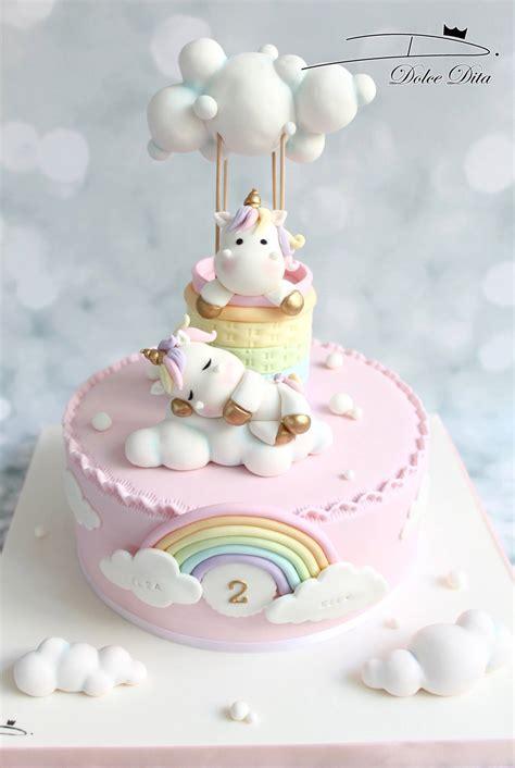 einhorn figur torte torte unicorno per feste d compleanno con pasta di