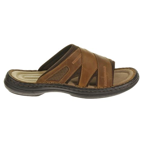 Scotty Slide Hush Puppies lyst hush puppies relief slide in brown for